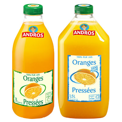 Coupon réduction Andros Jus d'orange