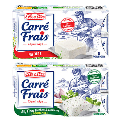 Coupon réduction Carré Frais Nature et Carré Frais Ail, Fines Herbes & Echalotes croquantes