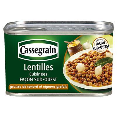 Bons de réduction Cassegrain Lentilles cuisinées