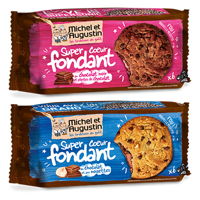 Coupon réduction Michel et Augustin Super Cookies cœur fondant