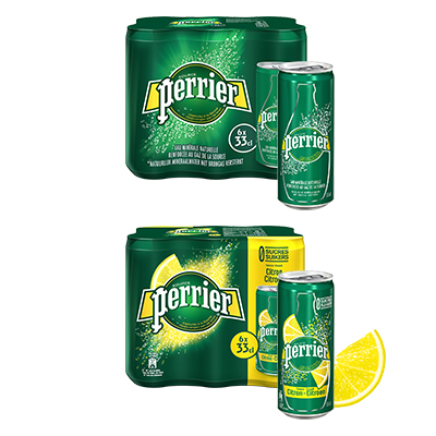 Coupon réduction Perrier Slim Can nature ou aromatisé