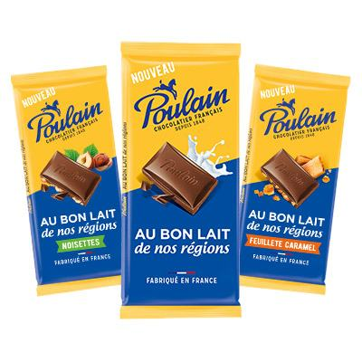 Bons de réduction Tablettes de chocolat au bon lait de nos régions Poulain
